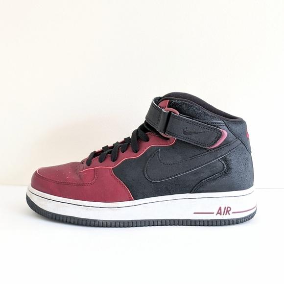 Nike Air Force Mid 7 Burgundy Size 8